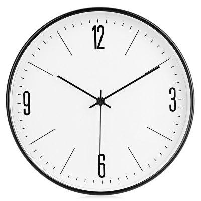 29cm Silent Metal Wall Clock Quiet Sweep Home Art Decor
