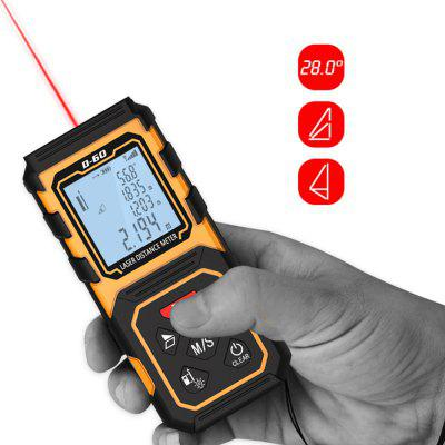 Laser Rangefinder Distance Meter Digital Measure Test ToolLaser Rangefinder, Electronic Distance Meter<br>Laser Rangefinder Distance Meter Digital Measure Test Tool<br><br>Package Contents: 1 x Laser Distance Meter, 1 x Portable Pouch, 1 x Hanging Rope, 1 x English User Manual, 1 x Reflector Board<br>Package Size(L x W x H): 13.00 x 7.00 x 4.00 cm / 5.12 x 2.76 x 1.57 inches<br>Package weight: 0.2720 kg<br>Product Size(L x W x H): 12.50 x 6.00 x 3.00 cm / 4.92 x 2.36 x 1.18 inches<br>Product weight: 0.1330 kg