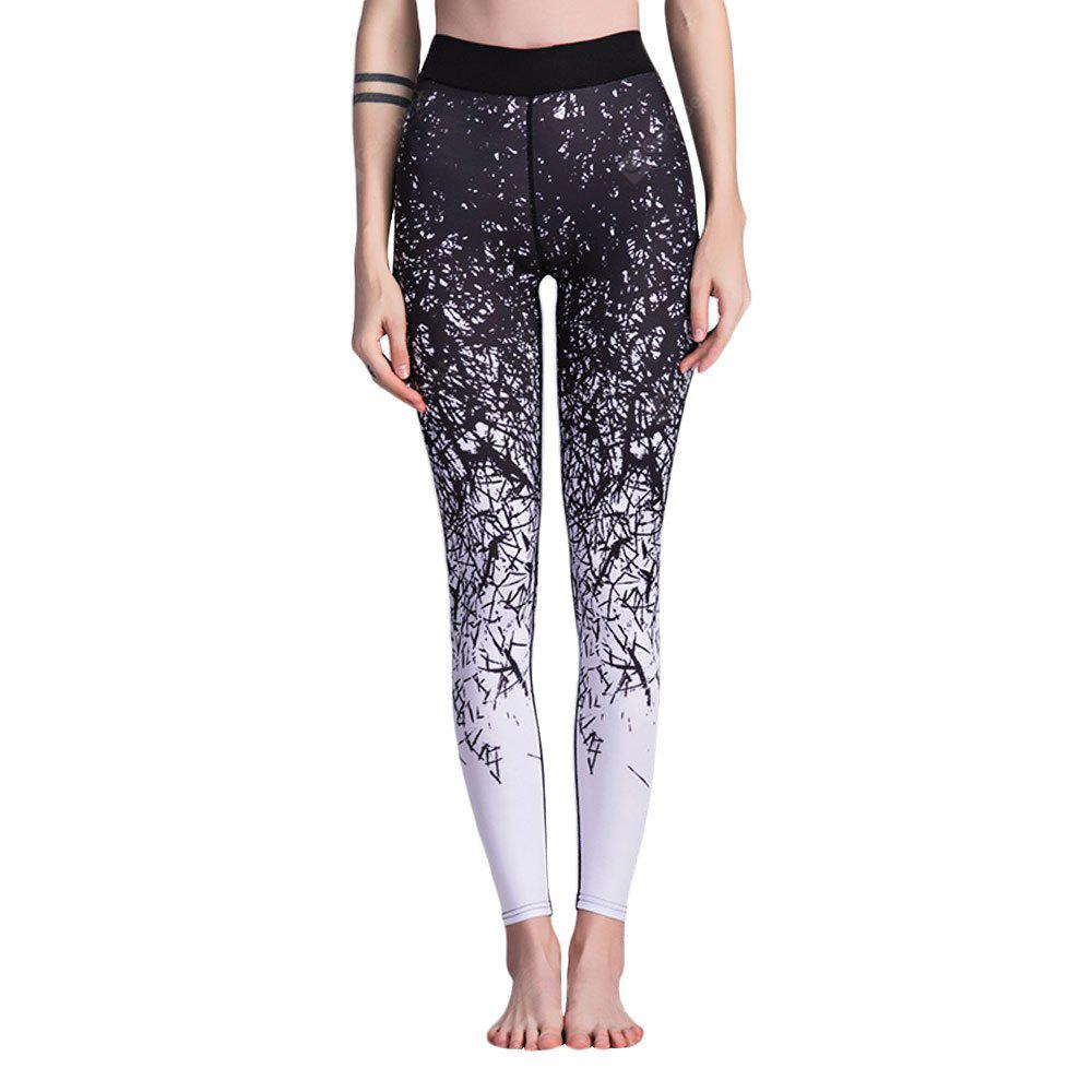 Trendy High Waist Print Elastic Skinny Women Pants
