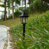Solar Powered Hexagonal Pathway Waterproof Light - WHITE LIGHT