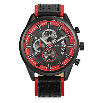 Curren 8290 Male Quartz WatchMens Watches<br>Curren 8290 Male Quartz Watch<br><br>Band Length: 8.58 inch<br>Band Material Type: Leather<br>Band Width: 24mm<br>Case material: Alloy<br>Case Shape: Round<br>Case Thickness: 0.47 inch<br>Clasp type: Pin Buckle<br>Dial Diameter: 1.89 inch<br>Dial Display: Analog<br>Dial Window Material Type: Hardlex<br>Feature: Date, Chronograph<br>Gender: Men<br>Movement: Quartz<br>Package Contents: 1 x Watch<br>Package Size(L x W x H): 11.50 x 8.50 x 7.00 cm / 4.53 x 3.35 x 2.76 inches<br>Package weight: 0.1990 kg<br>Product Size(L x W x H): 27.00 x 5.20 x 1.20 cm / 10.63 x 2.05 x 0.47 inches<br>Product weight: 0.0910 kg<br>Style: Business<br>Water Resistance Depth: 30m