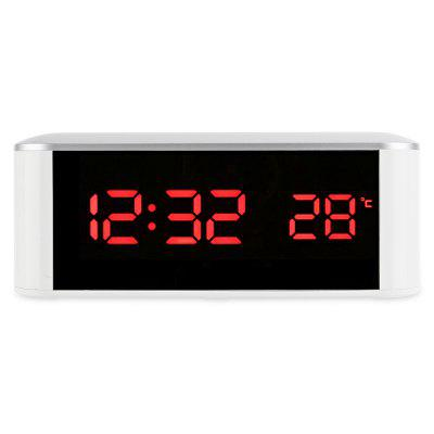 LED Digital Alarm Clock Thermometer with Mirror Design