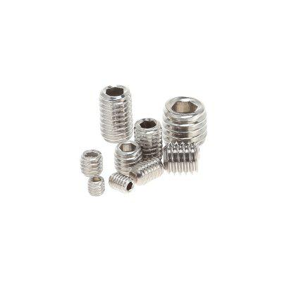 Stainless Steel Allen Head Socket Inner Hex Grub Screw KitDIY Parts &amp; Components<br>Stainless Steel Allen Head Socket Inner Hex Grub Screw Kit<br><br>Application Scope: Machine tools and accessories<br>Package Contents: 200 x Allen Head Socket Hex Set Grub Screw, 1 x Plastic Box<br>Package size (L x W x H): 13.00 x 7.00 x 2.50 cm / 5.12 x 2.76 x 0.98 inches<br>Package weight: 0.1750 kg<br>Product size (L x W x H): 12.50 x 6.50 x 2.00 cm / 4.92 x 2.56 x 0.79 inches<br>Product weight: 0.1500 kg<br>Types: Allen Head Socket Hex Set Grub Screw