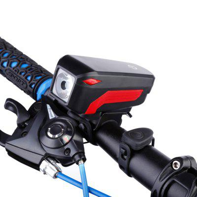 USB Rechargeable Waterproof Loud Horn Bike Headlight