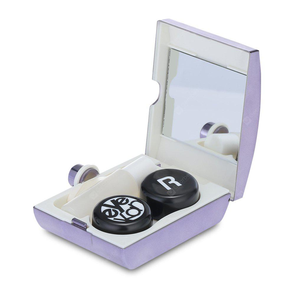 Contact Lens Storage Box Holder Portable Eyewear Container PURPLE