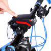 USB Rechargeable Waterproof Loud Horn Bike Headlight - BLACK