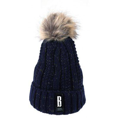 Fashion Winter Knitted Hat Women Skullies and Beanies Cap