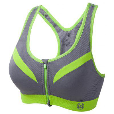 Shoulder Strap Wireless Shockproof Mesh Women Sports Bra