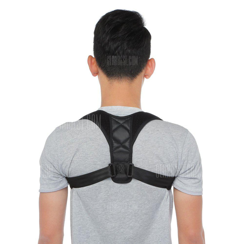 Gearbest SUP4 Brace Posture Orthotics Corrector Back Adjuster Health Care - BLACK
