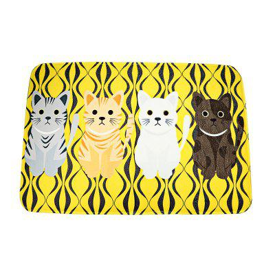Hallway Cat Non-Slip Rug Carpet Bathroom Kitchen Doormats