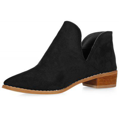 Trendy bout pointu Chunky Heel Slip-on Femme Chaussures