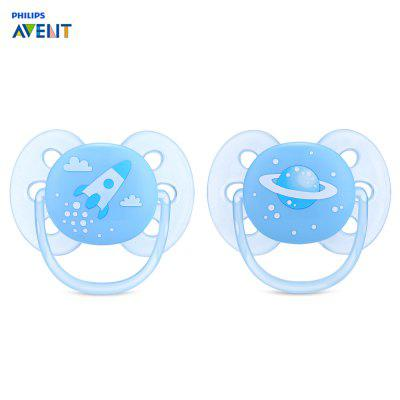 Philips Avent 2pcs Silicone Baby Soother Toddler Nipple Pacifier