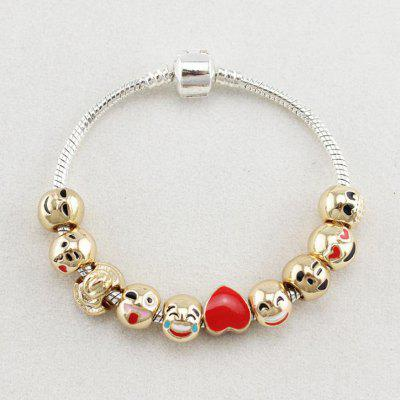 18 CM Funny Smiley Bracelet Maitreya Buddha Beaded Bracelet Fashion Glass Beads Bracelet
