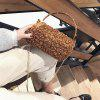 Guapabien Women Chain Faux Fur Shoulder Crossbody Bag - BROWN