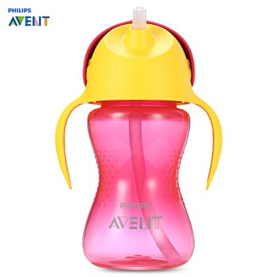 Philips Avent 10oz / 300ml Handle Drinking Baby Straw Bottle
