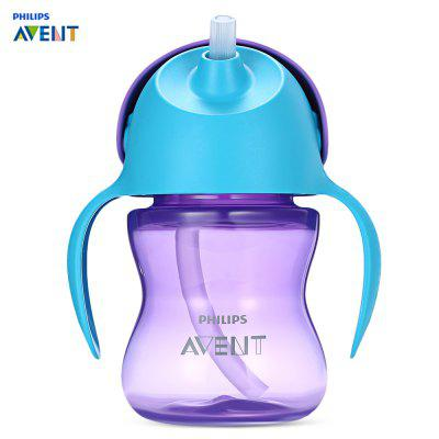 Philips Avent 7oz / 200ml Handle Drinking Baby Straw Bottle