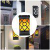 Waterproof 66 LEDs Solar Flickering Flames Wall Lights - BLACK