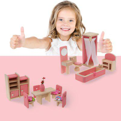 Cute Miniature Set Dollhouse Furniture Kids Toy Gift ChildrenPretend Play<br>Cute Miniature Set Dollhouse Furniture Kids Toy Gift Children<br><br>Materials: Wood<br>Package Contents: 1 x Set of House Furniture Toys<br>Package Size ( L x W x H ): 19.00 x 16.00 x 5.00 cm / 7.48 x 6.3 x 1.97 inches<br>Package weight: 0.3800 kg<br>Product weight: 0.3000 kg<br>Products Type: Miniature Set Dolls
