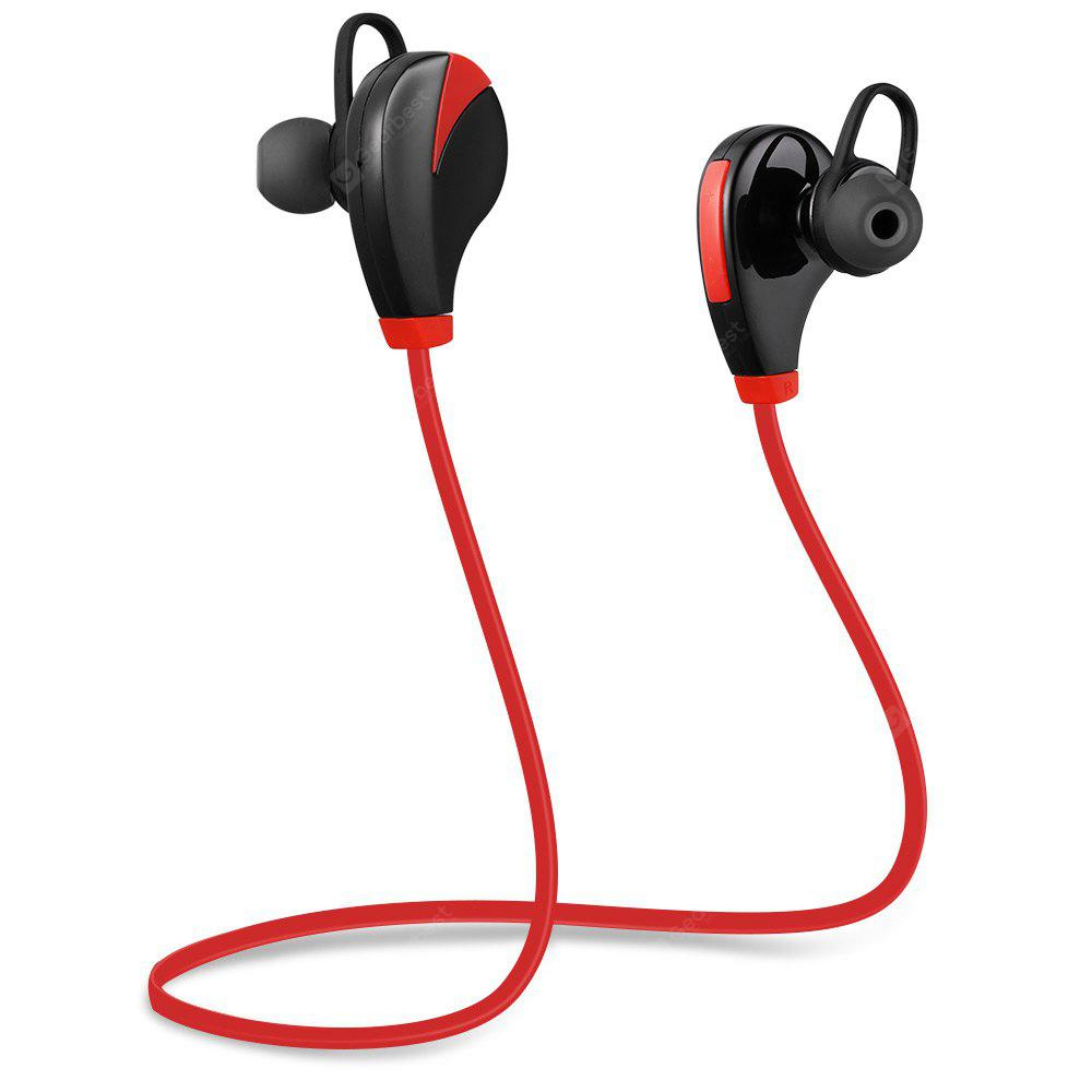 G6 Bluetooth 4.0 Sports Headphone Earbud with Clear Voice - RED WITH BLACK