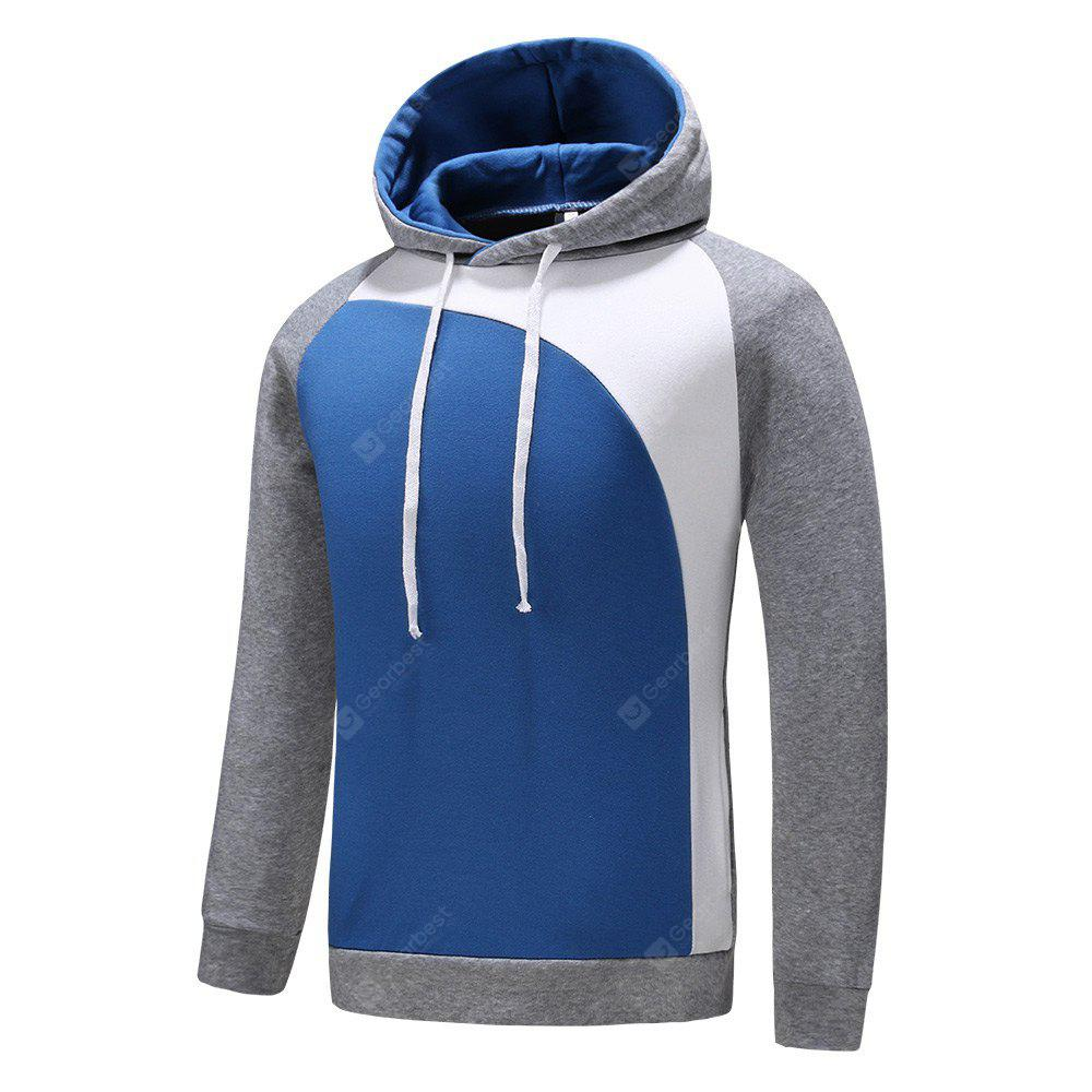Hooded Long Sleeve Color Blocking Men Hoodie