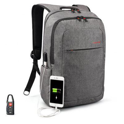 Gearbest Tigernu Brand External USB Charge Backpack Male Mochila Escolar Laptop Backpack School Bags for Teens