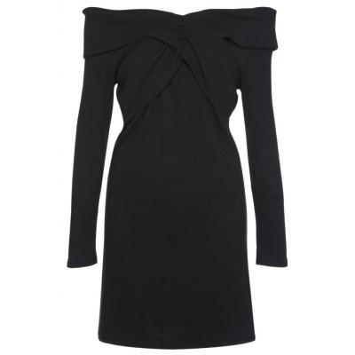 Off The Shoulder Long Sleeve Ruched Women Dress