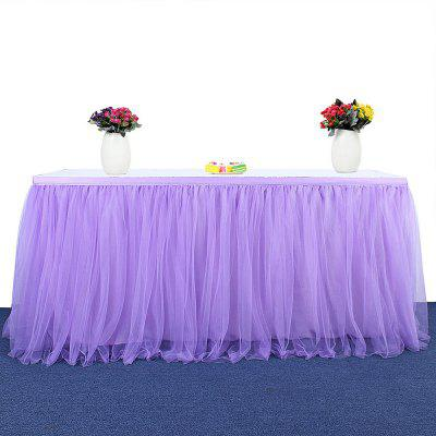Buy Tutu Tulle Table Skirt Cloth for Party Wedding Home Decor PURPLE for $22.59 in GearBest store