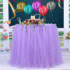 Tutu Tulle Table Skirt Cloth for Party Wedding Home Decor - PURPLE