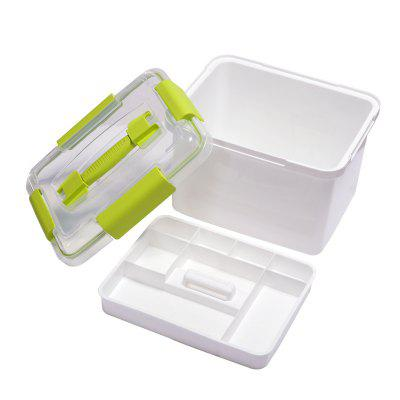 Double Decker Fishing Mini Medicine Kit Accessories Storage Box Built-In Fittings Containing Small Fishing Box