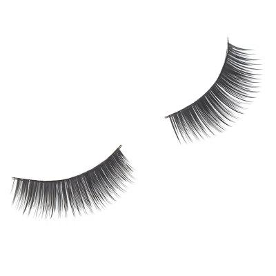 1 par Cosmetic Natural False Eyelashes Mink Cross Extension