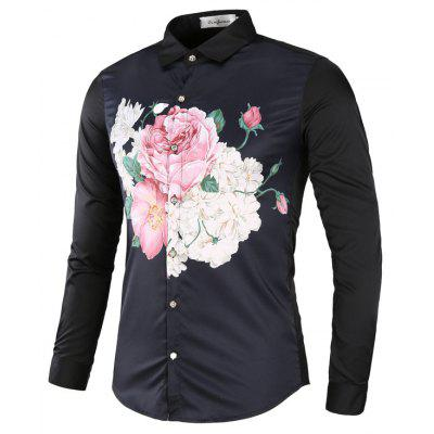 European And American Wind Men's  Shirts  Fashion Leisure And Personal Style Personality Of Young People