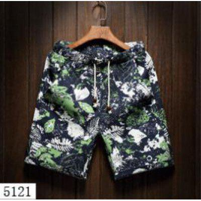Summer Men's Beach Five Sub Pants Leisure Loose Tube Men's Hawaii Flower Shorts(5121)