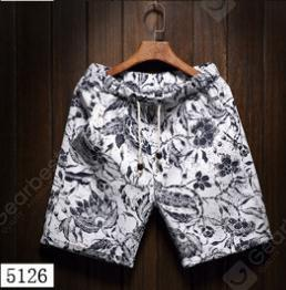 Summer Men's Beach Five Sub Pants Leisure Loose Tube Men's Hawaii Flower Shorts(5126)