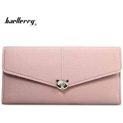 Baellerry Long Wallet Women PU Leather Hasp Coin Purse