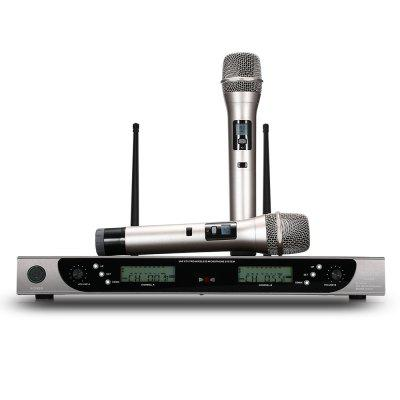 Buy WEISRE U 8008 Wireless UHF Microphone System 2 Channels, BLACK, Computers & Networking, Computer Peripherals, Speakers for $91.93 in GearBest store