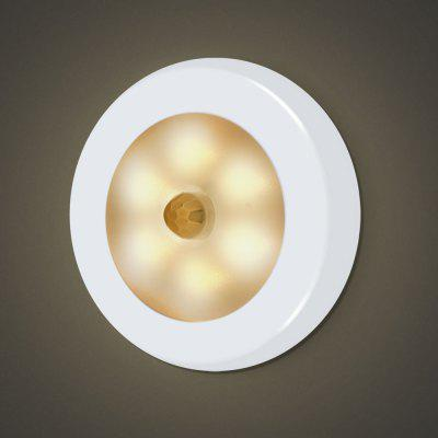 6 LEDs Motion Sensor Night Light for Hallway Closet Stairs