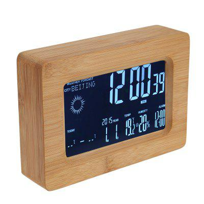 Buy Smart WiFi LCD Wood Alarm Clock, WOOD, Home & Garden, Home Decors, Clocks for $72.64 in GearBest store