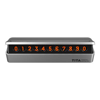 Car Temporary Parking Card Phone Number Plate Accessories