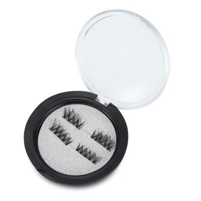 2 Pairs Eye Beauty Makeup Magnetic False Eyelashes Extension