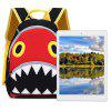 TongChang Kid School Bag 3D Cute Shark Cartoon Backpack - RED