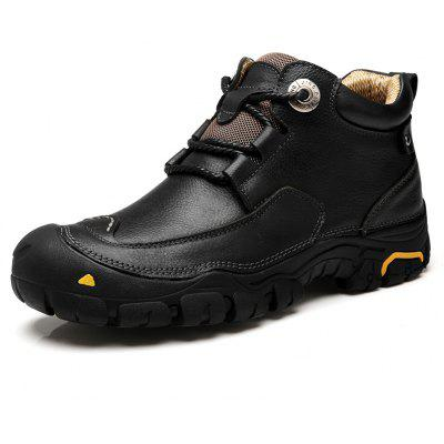 Anti-slip Mid Top Leather Boots for Men