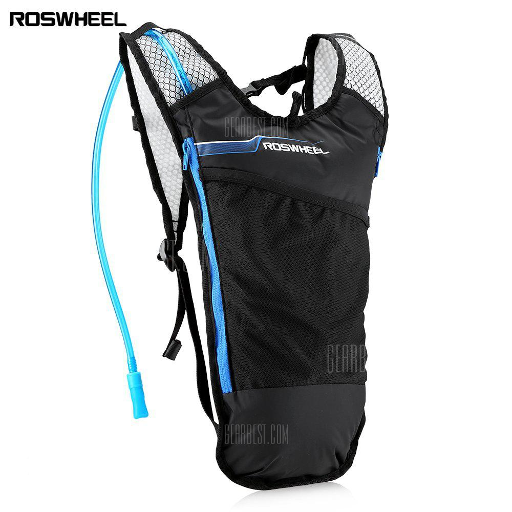 ROSWHEEL Bicycle Cycling Sports Running 5L Lightweight Breathable Hydration Backpack with 2L Non-toxic Water Bag