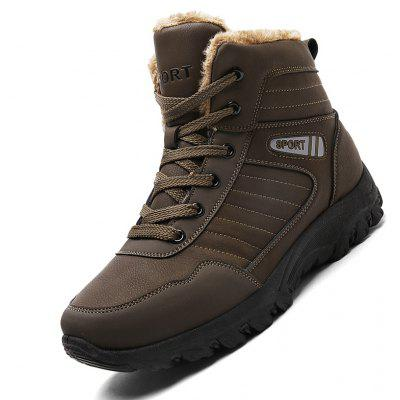 Men Casual Winter Warm Rubber Trend for Fashion Lace Up Cotton Suede Ankle Boots