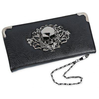 Guapabien Old Classical Punk Handbag Zipper New Wallet Purse