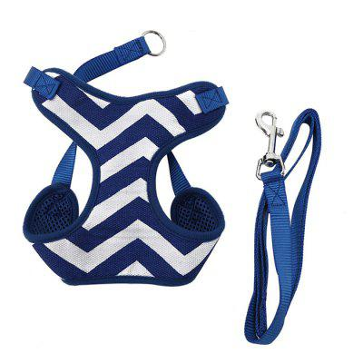Buy XuanCheng Pet Dog Soft Stripe Mesh Vest Harness Leash Strap BLUE M for $4.75 in GearBest store