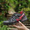 Hiking Men Running Shoes Sport Outdoor Jogging Walking Athletic Sneakers - BLACK AND RED