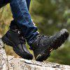 Anti-slip Mid Top Leather Boots for Men - BLACK
