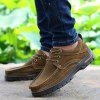Shockproof Frosted Leather Shoes for Men - BROWN