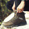 Men Casual Winter Warm Rubber Trend for Fashion Lace Up Cotton Suede Ankle Boots - BROWN