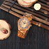 REDEAR SJ1448 Male Quartz Wooden Watch - ZEBRAWOOD